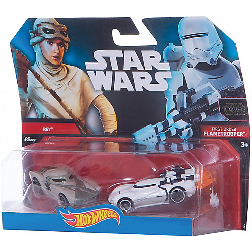"Набор машинок Hot Wheels ""Star Wars"" Рей и Штурмовик первого ордена от Mattel"