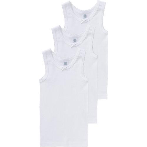 Sanetta Unterhemden 3er-Pack , Organic Cotton Gr. 116 Mädchen Kinder | 04055502382884