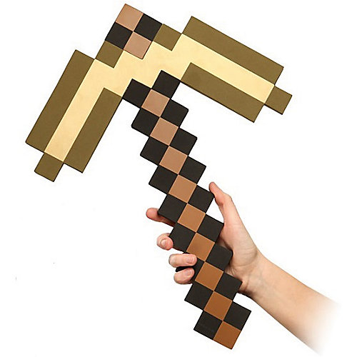 Пиксельная кирка, золотая, 45 см, Minecraft от Pixel Crew