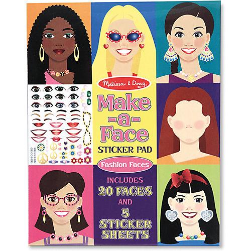 """Книжка с многоразовыми наклейками """"Лица"""" от Melissa & Doug"""