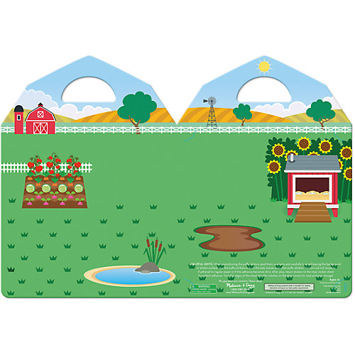 """Книжка с многоразовыми наклейками """"Ферма"""" от Melissa & Doug"""
