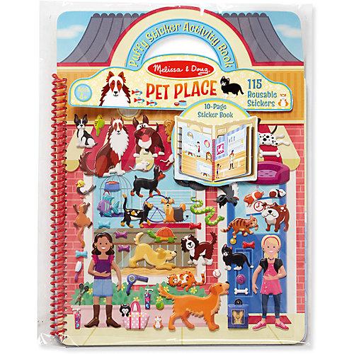 """Книжка с многоразовыми наклейками """" Животные"""" от Melissa & Doug"""