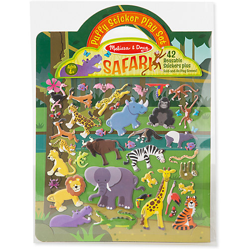 """Книжка с многоразовыми наклейками """"Сафари"""" от Melissa & Doug"""