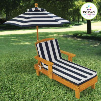 Kinderliegestuhl mit Sonnenschirm