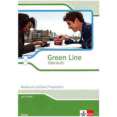 Green Line Oberstufe, Ausgabe Hessen (2015): Workbook and Exam Preparation, m. CD-ROM