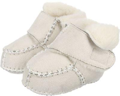 Baby Krabbelschuhe in Lammfell Optik, Playshoes