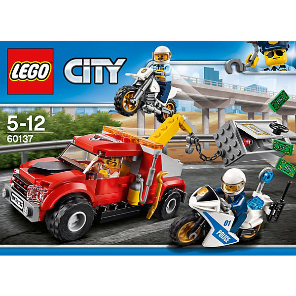 lego 60137 city abschleppwagen auf abwegen lego city mytoys. Black Bedroom Furniture Sets. Home Design Ideas