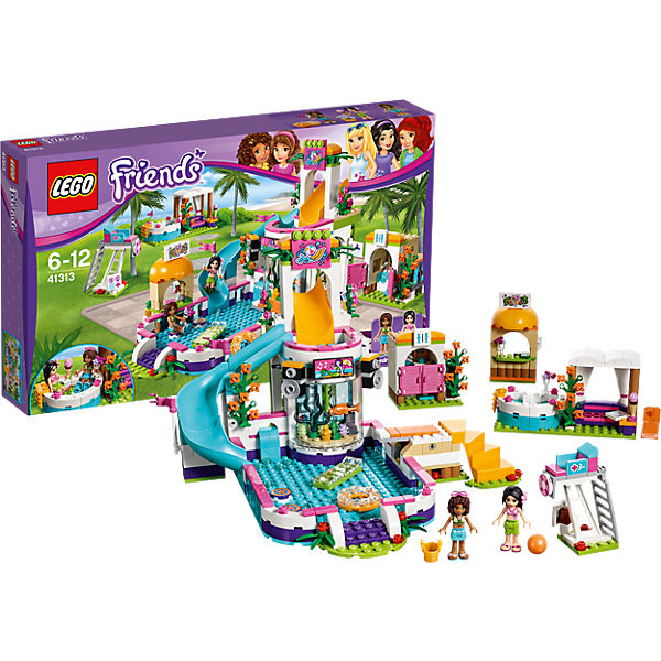 lego 41313 friends heartlake freibad lego friends mytoys. Black Bedroom Furniture Sets. Home Design Ideas