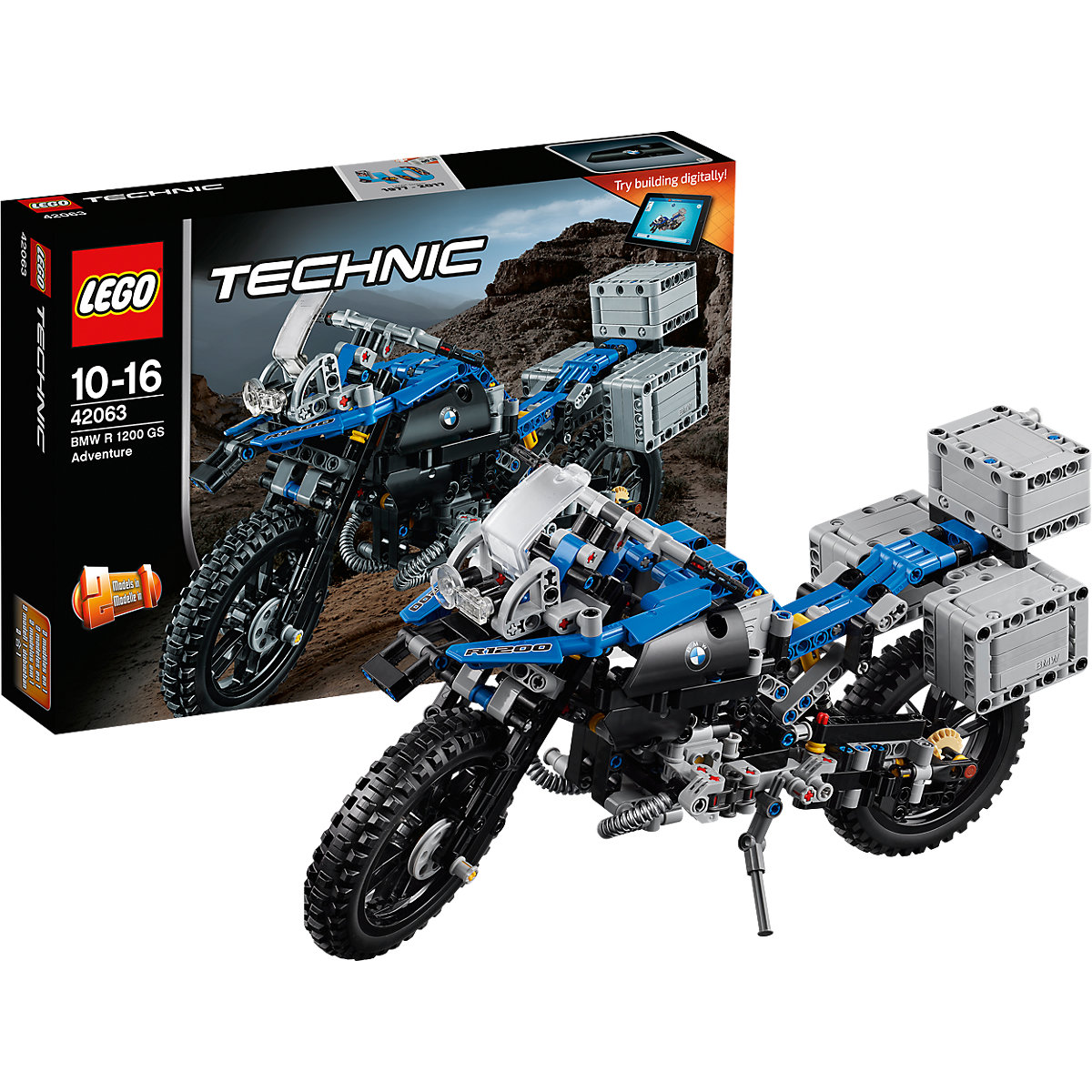 lego 42063 technic bmw r 1200 gs adventure lego mytoys. Black Bedroom Furniture Sets. Home Design Ideas