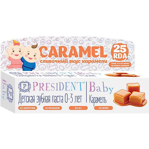 Зубная паста President Baby Карамель, 0-3 лет, 30 мл от PRESIDENT