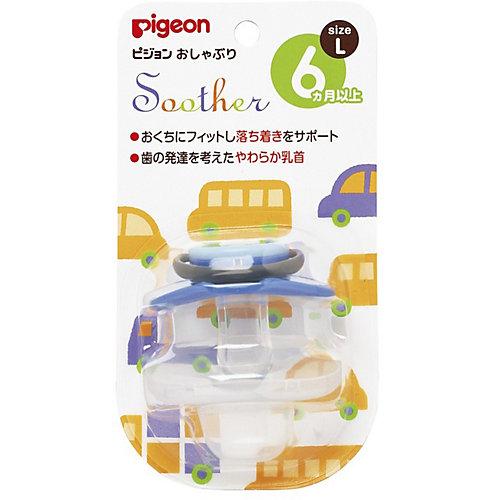 Пустышка Машинка 6+ мес (L), Pigeon от Pigeon