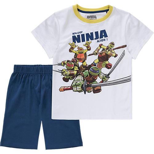 TEENAGE MUTANT NINJA TURTLES Schlafanzug Gr. 116/122 Jungen Kinder | 08718526371888