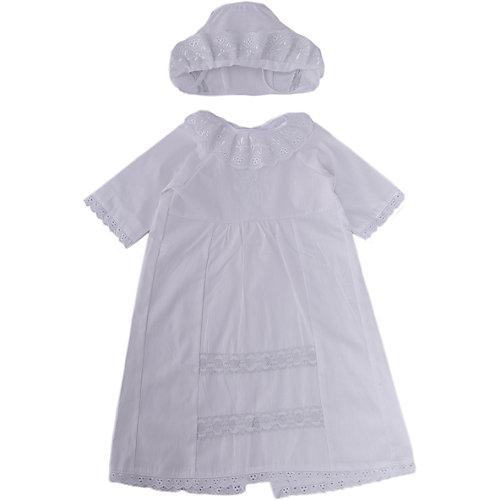 Крестильный набор для девочки, р-р 62, Сонный гномик, белый от Сонный гномик