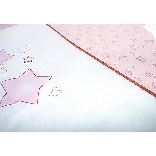 Комплект в кроватку 6 предметов Сонный гномик, Умка, розовый от Сонный гномик