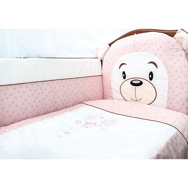 Комплект в кроватку 6 предметов Сонный гномик, Умка, розовый