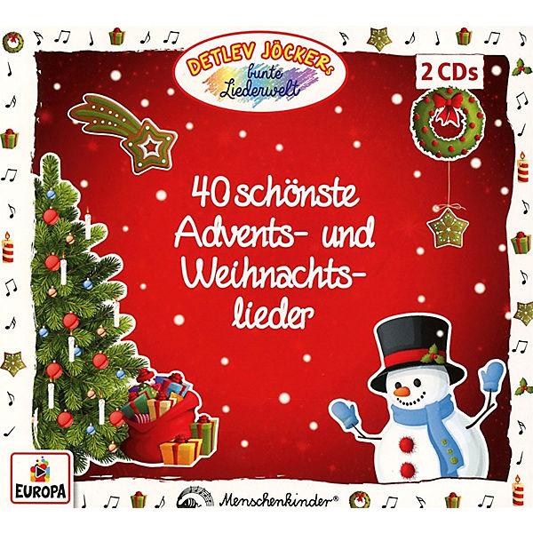 Weihnachtslieder Cd.Cd Detlev Jöcker 40 Schönste Advents Und Weihnachtslieder Sony