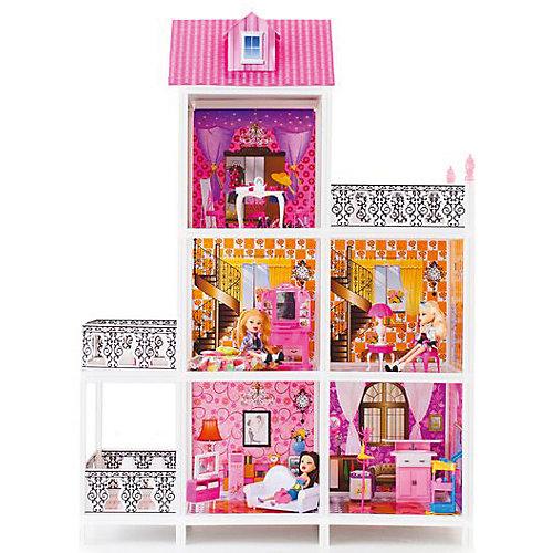 3-этажный кукольный дом (5 комнат, мебель, 3 куклы), PAREMO от PAREMO