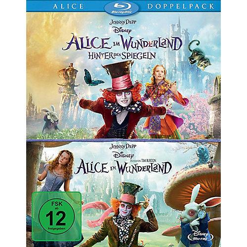 Disney BLU-RAY Alice im Wunderland 1+2 (Doppelpack, 2DVDs) Sale Angebote Neukieritzsch