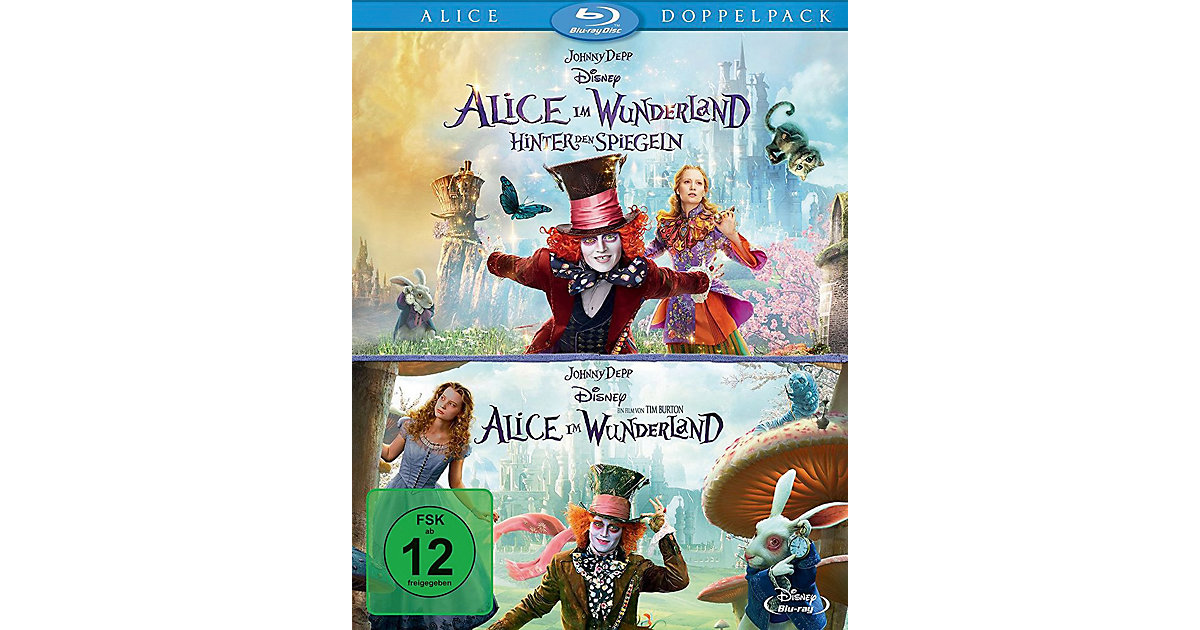 BLU-RAY Alice im Wunderland 1+2 (Doppelpack, 2DVDs) Hörbuch