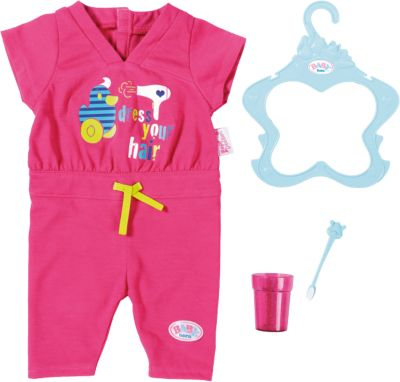 Zapf BABY born Schlafanzug Puppenkleidung Bath Shorty Pyjama mit Clogs