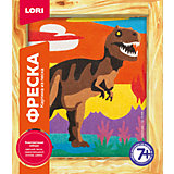 Фреска, Картина из песка Тиранозавр