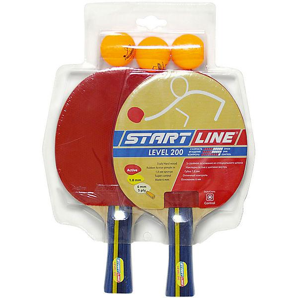Набор теннисных ракеток Level 200 2шт, мячи Club Select, 3 шт