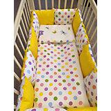 Комплект в кроватку 6 предметов By Twinz, Горох