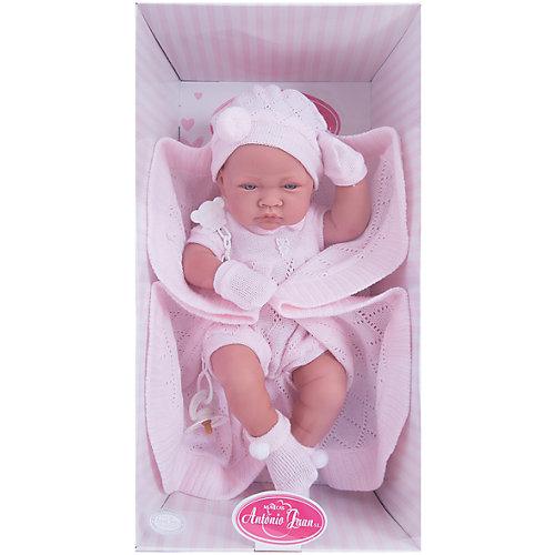 """Кукла-младенец """"Тони"""", в розовом, 42 см, Munecas Antonio Juan от Munecas Antonio Juan"""