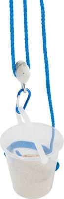 Flaschenzug mit Eimer, blau Flaschenzug ...