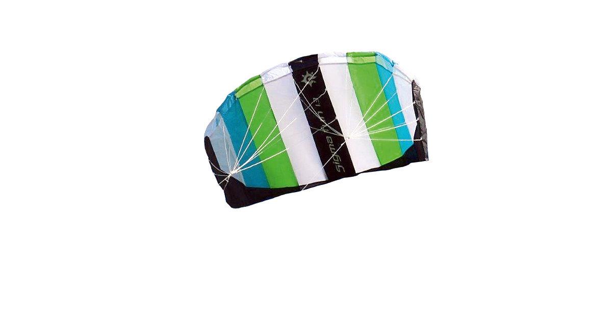 Drachen Sigma Fun 1.3, weiß/blau/grün, Zweileiner