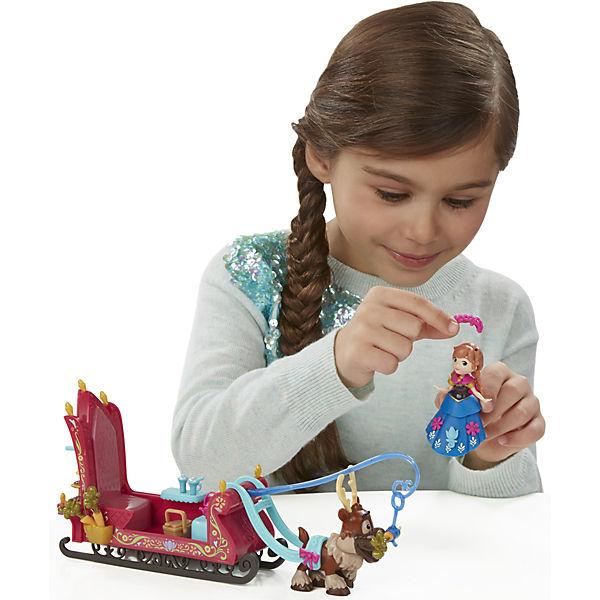 Игровой набор Маленькие куклы Анна, Свен и сани,  Холодное сердце