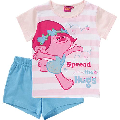 TROLLS Schlafanzug Gr. 140 Mädchen Kinder | 05400532006702