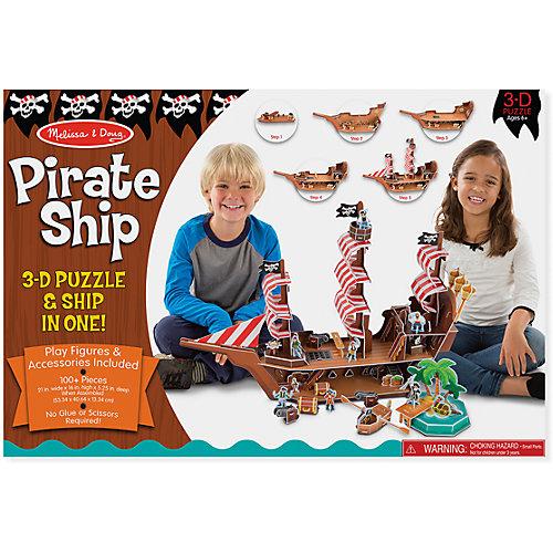 "3D пазл ""Пиратский корабль"", Melissa & Doug от Melissa & Doug"