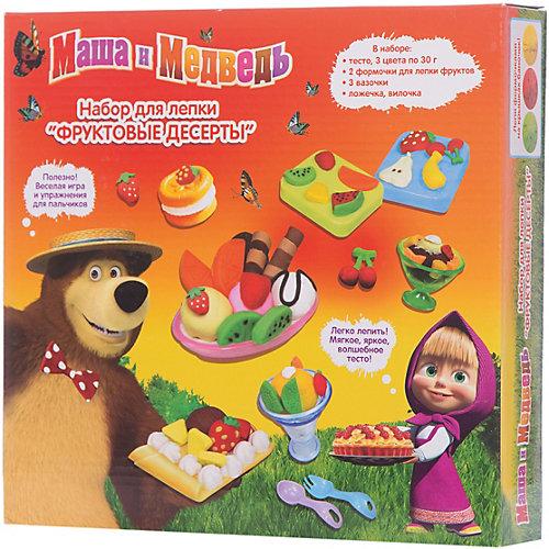 Набор для лепки «Фруктовые десерты», Маша и Медведь от Росмэн