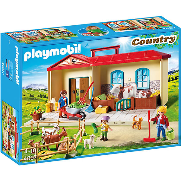 playmobil 4897 mitnehm bauernhof playmobil country mytoys. Black Bedroom Furniture Sets. Home Design Ideas