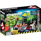 "Конструктор Playmobil ""Охотники за привидениями"" Лизун и торговая тележка с хот-догами"