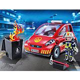 Конструктор Playmobil Пожарник с машиной, 12 деталей