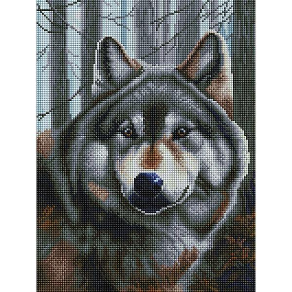 Алмазная мозаика Белоснежка «Волк», 40х30 см