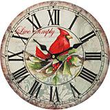 """Часы настенные """"Красный кардинал"""", диаметр 34 см"""