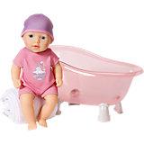 Кукла твердотелая с ванночкой, 30 см, my first Baby Annabell