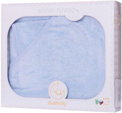 Махровое полотенце 100/100, Italbaby, голубой