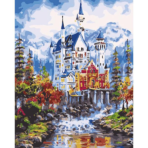 """Холст с красками по номерам """"Величественный замок в горах"""" 40х50 см"""