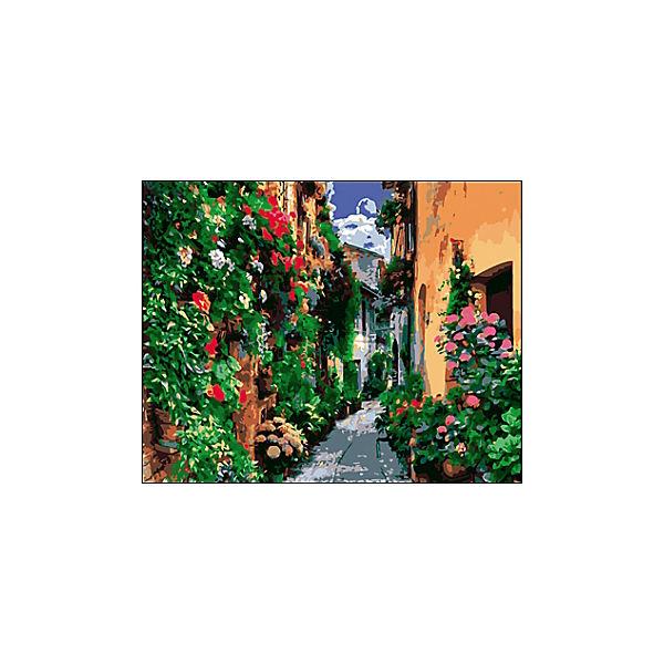 "Холст с красками по номерам ""Европейская улочка"" 40х50 см"