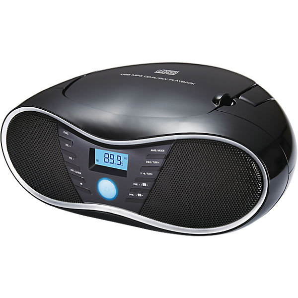 cd player mit usb radio cd58 schwarz bigben mytoys. Black Bedroom Furniture Sets. Home Design Ideas