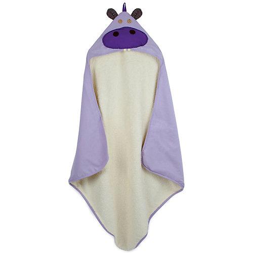 Полотенце с капюшоном 3 Sprouts Бегемот - фиолетовый от 3 Sprouts