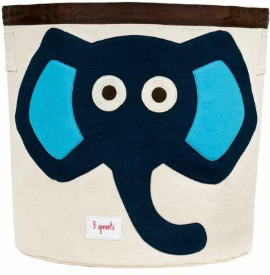Корзина для хранения 3 Sprouts Слон, синий