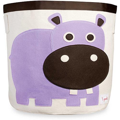 Корзина для хранения Бегемотик (Purple Hippo), 3 Sprouts - фиолетовый от 3 Sprouts