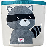 Корзина для хранения Енот (Grey Raccoon), 3 Sprouts