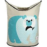 Корзина для белья 3 Sprouts Полярный медведь