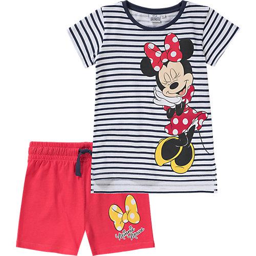 Disney Minnie Mouse Schlafanzug Gr. 116/122 Mädchen Kinder | 04052384187408